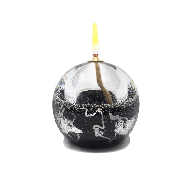 Lampe-huile-sulfure-noir-argent