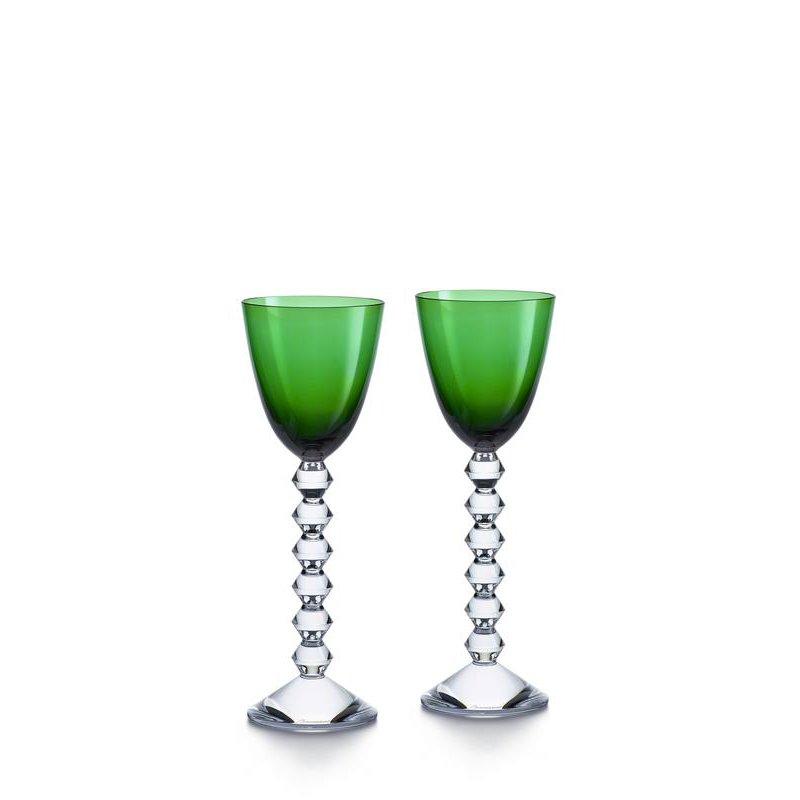 coffret v ga verre vin du rhin vert baccarat vessiere. Black Bedroom Furniture Sets. Home Design Ideas