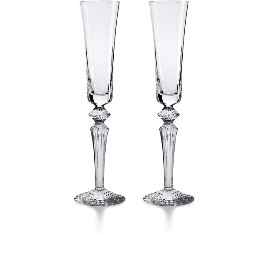 SET OF 2 CLEAR MILLE NUITS FLUTISSIMO BACCARAT | Vessiere