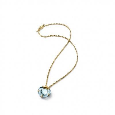 PENDENTIF-B-flower-turquoise-Baccarat