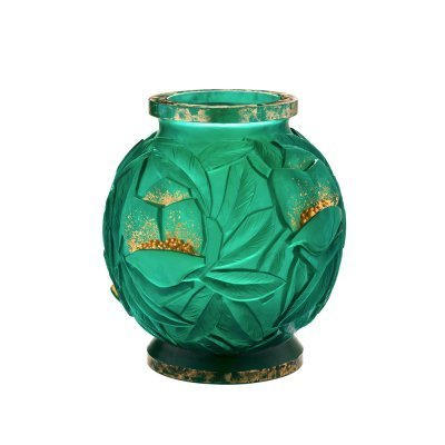 Vase-GM-empreinte-or-Daum-France