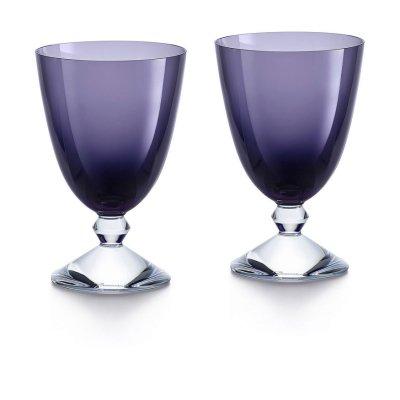 Vega-verre-bas-violet-Baccarat