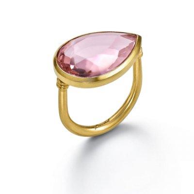Bague-gouttes-cristal-rose-Taillac-Baccarat