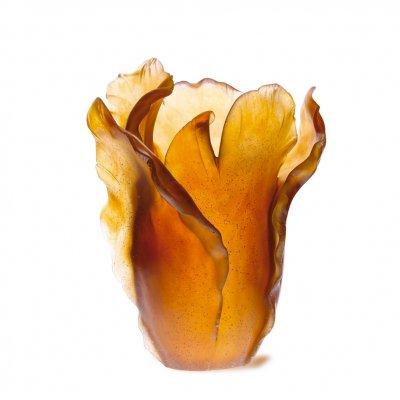 Vase-tulipe-ambre-Daum