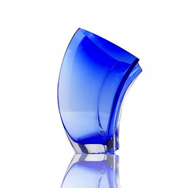 Vase-vague-cristal-bleu
