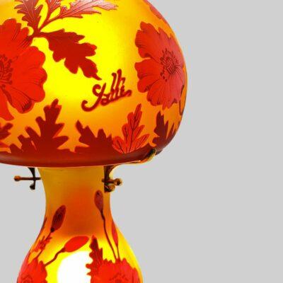 Lampe-baby-champignon-typ-Galle-fleur