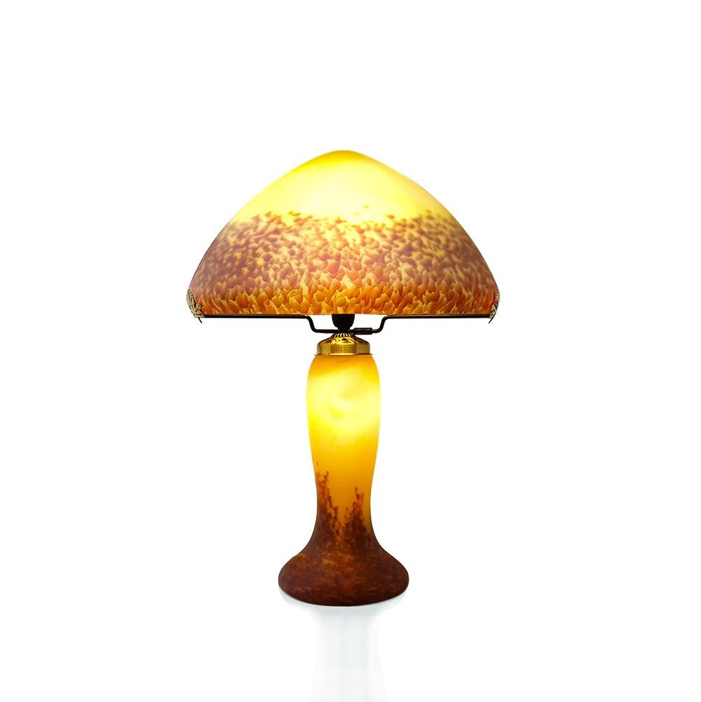 Lampe grand mod le p te de verre ivoire - Lampe pate de verre ...