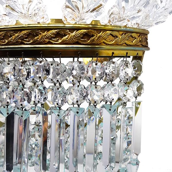 Applique cristal bronze pampille Baccarat