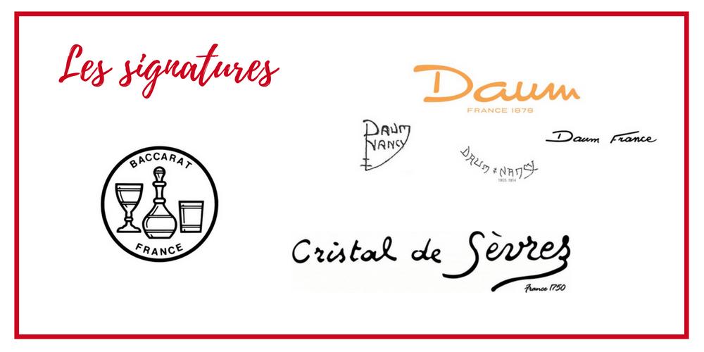 Signature-cristalleries