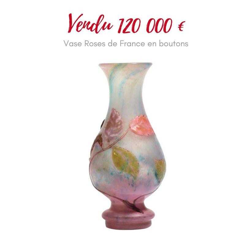 Vase-rose-de-france-Galle