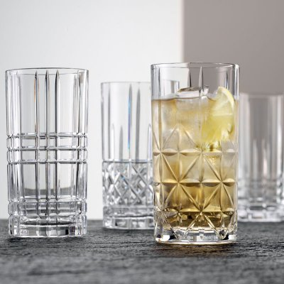 Nachtmann-highland-cut-glass-long-drink-tumblers-set-of-4