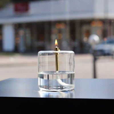 lampe huile cylindre en verre