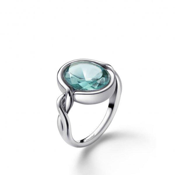Bague-argent-croise-cristal-turquoise-Baccarat