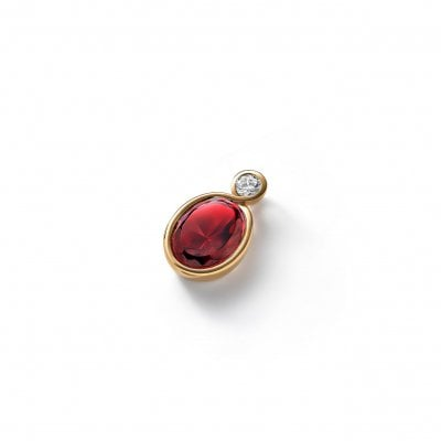 PENDENTIF-croise-CRISTAL-OR-ROUGE-Baccarat