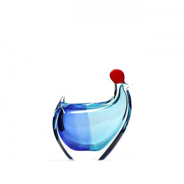 Sculpture-poule-cristal-turquoise