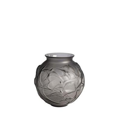 Vase-hirondelles-gris-Lalique