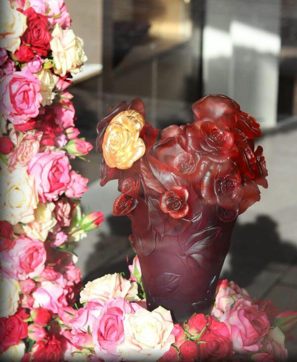 vase-rose-fleur-or-daum-france