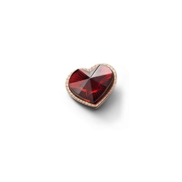 pendentif coeur cristal rouge Baccarat etoile de mon coeur