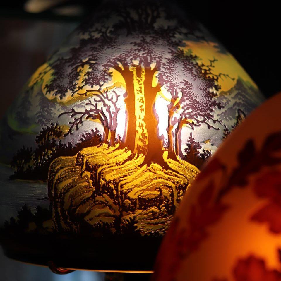 lampe decor foret tip galle