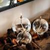 lampe huile en verre et paraffine