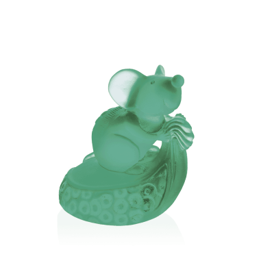 sculpture rat en pate de cristal daum