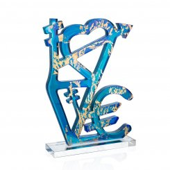 sculpture de Jacques Village Love par Daum