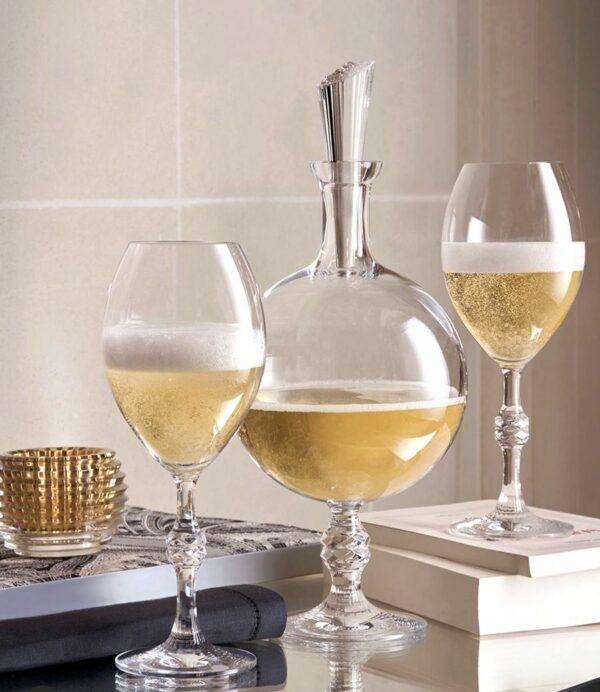 carafe pour champagne en cristal de baccarat