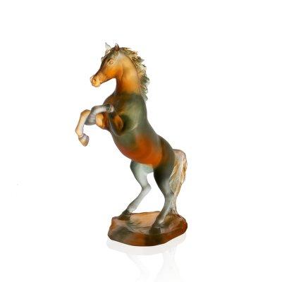 sculpture cheval en pate de cristal daum