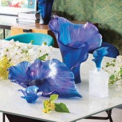 collection de coupe et vase Arum en pate de cristal Daum