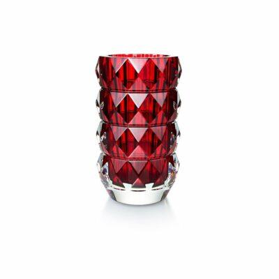 vase louxor rond en cristal rouge Baccarat