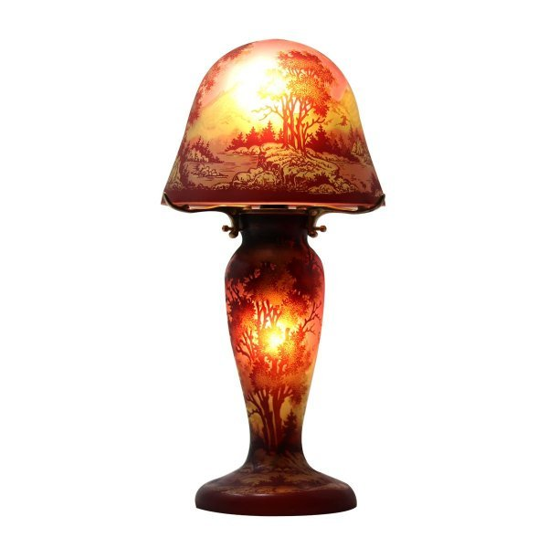 Lampe--art-nouveau-pate-de-verre