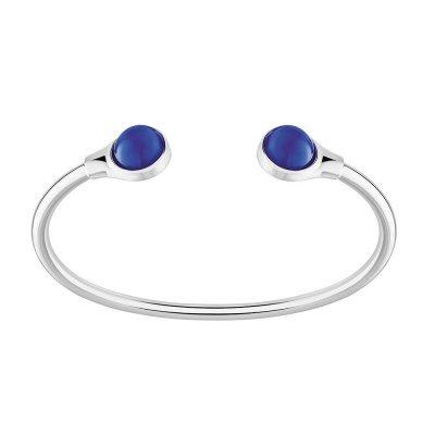 bracelet cabochon cristal bleu lalique