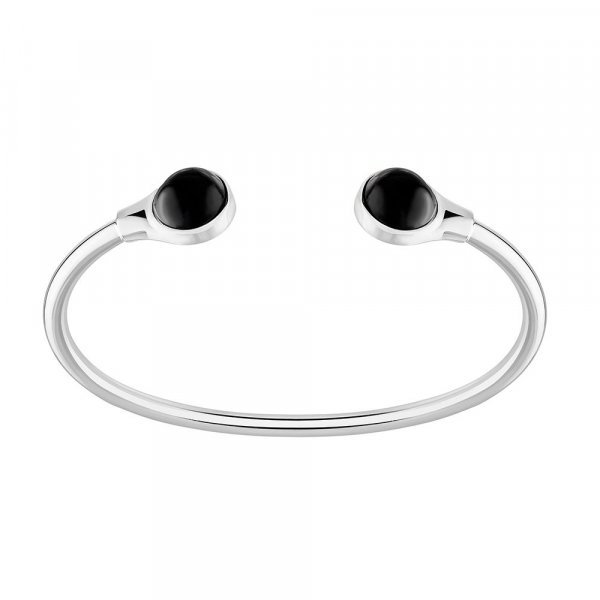 bracelet cabochon cristal noir Lalique