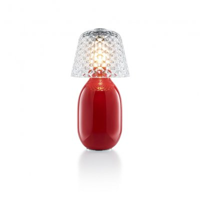 Lampe candy rouge Baccarat