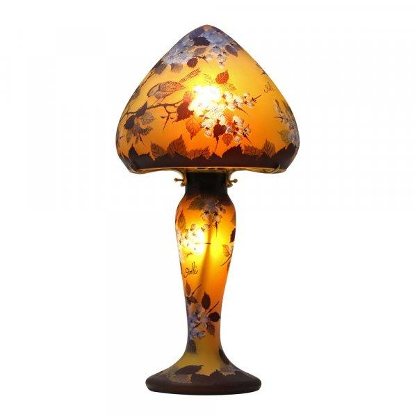lampe-pate-de-verre-tip-galle-decor-oiseaux