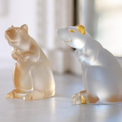 rat horoscope en cristal Lalique france