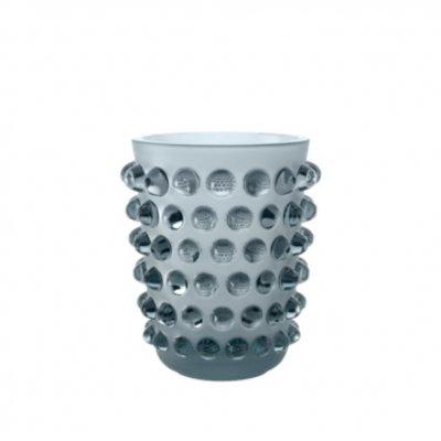 vase mossi en cristal bleu Persepolis Lalique