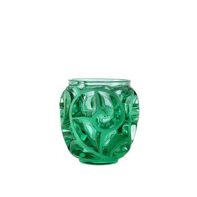vase tourbillon petit modèle en cristal vert menthe Lalique