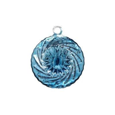 boule de Noël en cristal couleur bleu clair
