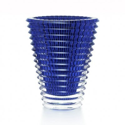 vase bleu en cristal Baccarat collection Eye