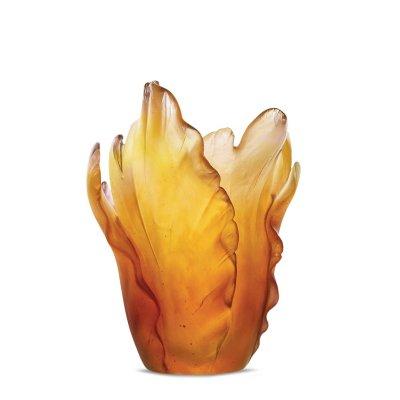 vase-tulipe-ambre-cristal-daum