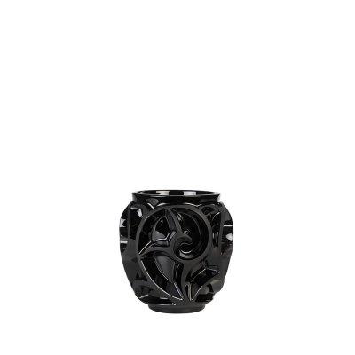 vase tourbillon petit modele noir Lalique