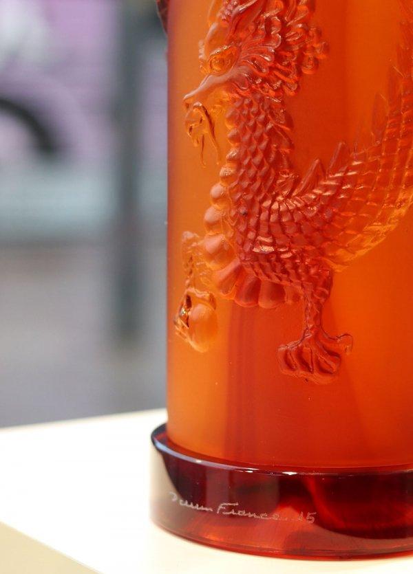 vase cristal daum decor dragon
