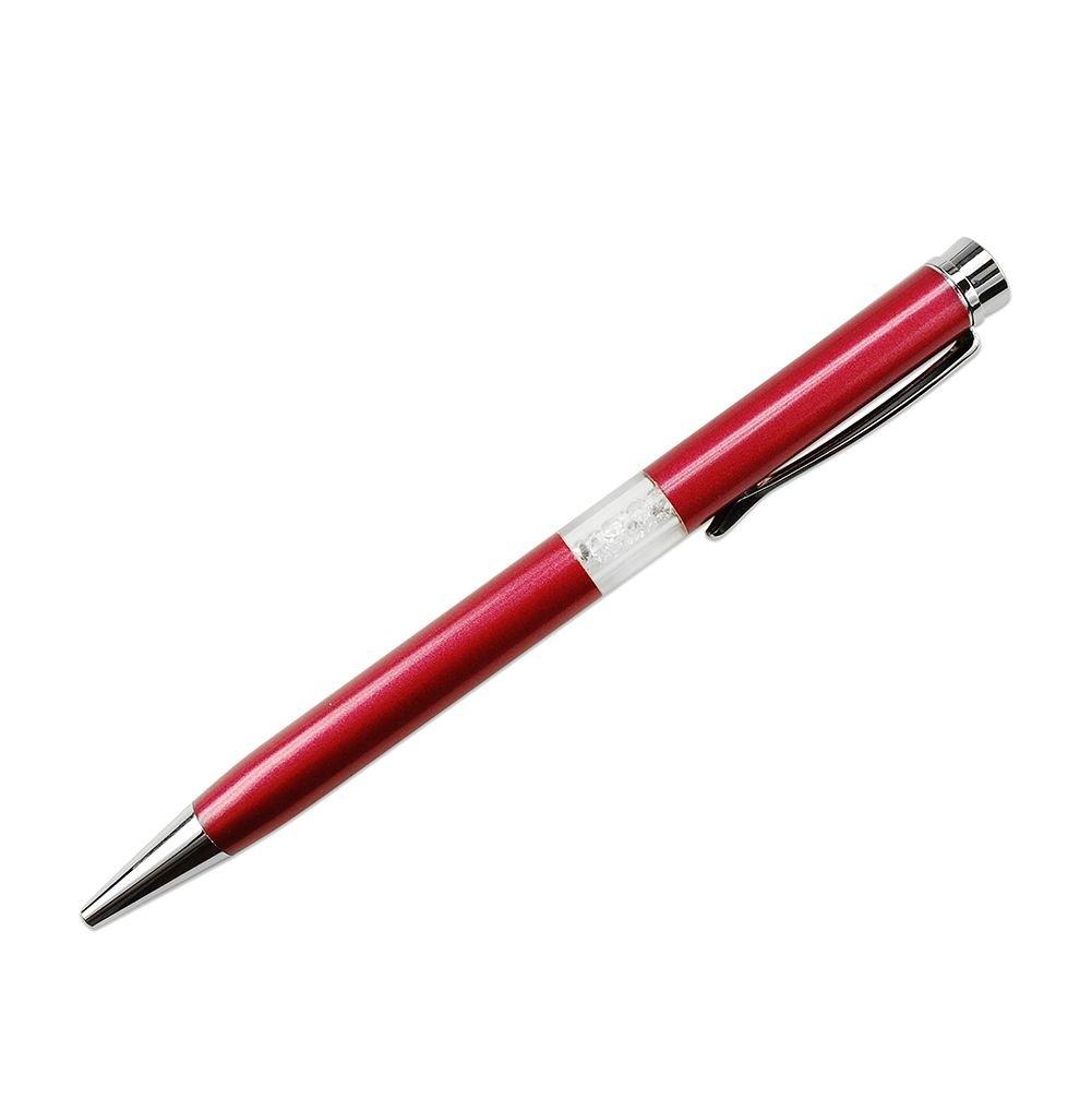 stylo cristaux swarovski rouge