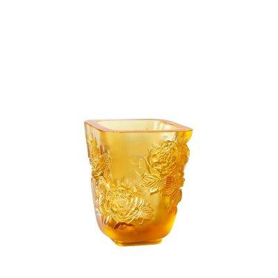 vase-pivoines-cristal-ambre-lalique