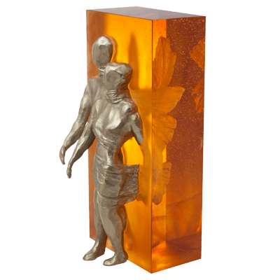 sculpture ensemble en pate de verre daum