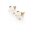 boucles oreilles en cristal blanc Baccarat