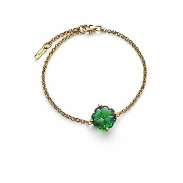 bracelet-cristal-vert-trefle-baccarat