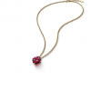 collier Baccarat trefle cristal rouge