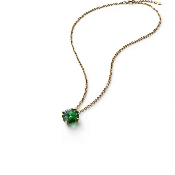 collier cristal vert trefle baccarat